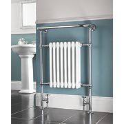 Victorian 8-Section Bathroom Radiator Chrome 952 x 659mm 498W 1699Btu