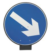 JSP Portacone Arrow Right Cone Sign 850mm