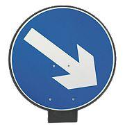 JSP Portacone Arrow Right Cone Sign 850mm