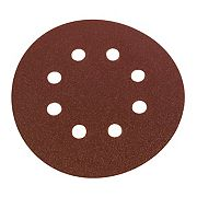 Flexovit Sanding Discs Punched 125mm 50 / 80 / 120 Grit Pack of 6