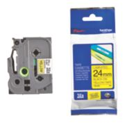Brother TZ E651 Cassette Tape 24mm Black on Yellow