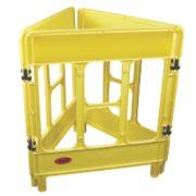 JSP 3-Gate Workgate Barrier Yellow