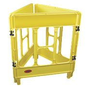 JSP 3-Gate Workgate Barrier Yellow