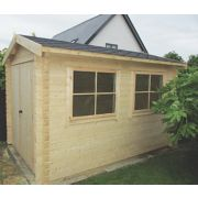 Shire Quantock Log Cabin Assembly Included 2.3 x 2.9m