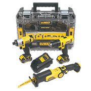 DeWalt DCK310C2T-GB 10.8V 1.3Ah Li-Ion Cordless Triple Pack XR