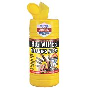 Big Wipes Industrial Cleaning Wipes Yellow Pack of 120