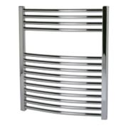Kudox Curved Towel Radiator Chrome 700 x 600mm 255W 870Btu
