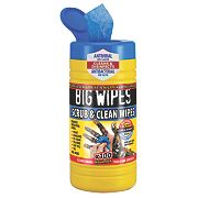 Big Wipes Industrial Cleaning Wipes Blue Pack of 100 with 20 Extra Free