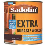 Sadolin Extra Durable Exterior Woodstain Translucent Semi-Gloss Jacobean Walnut 1Ltr