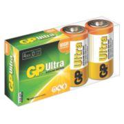 GP Batteries Ultra Alkaline Batteries D Pack of 4