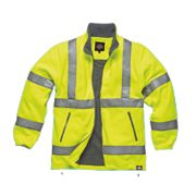 "Dickies Hi-Vis Fleece Jacket Saturn Yellow Medium 42"" Chest"