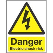 """Danger Electrical Shock Risk"" Sign 200 x 150mm"