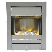 Ohio Stainless Steel Top Control Electric Inset Fire