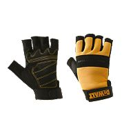 DeWalt Performance 4 Performance 4 Fingerless Gloves Black Yellow Large