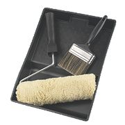 Harris Masonry Roller with Tray & Masonry Brush Set