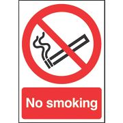 """No Smoking"" Sign 210 x 148mm"