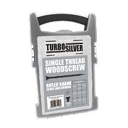 Turbo Silver Woodscrews Grab Pack Double-Self-Countersunk Pack of 1000