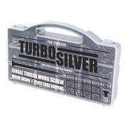 Turbo Silver Woodscrews Handy Pack Double Self-Countersunk Pack of 350