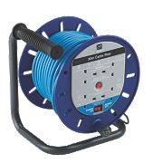 Masterplug Switched 4 Socket Cable Reel (Work Power) 30m 13A