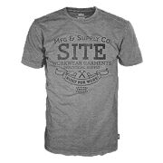 "Site Supply Co T-Shirt Grey Marl Medium 40"" Chest"