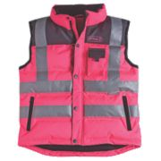 Ladies Hi-Vis Bodywarmer Pink Medium ""