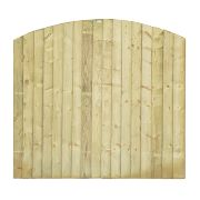 Grange Fencing Dome Feather Edge Fence Panels 1.8 x 1.7m Pack of 3