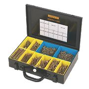 Goldscrew Plus Woodscrews General Trade Case Double-Self-Countersunk Pk1400
