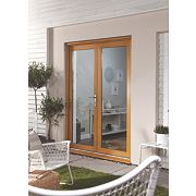 Jeld-Wen Double-Glazed French Doors Oak Veneer 1200 x 2100mm
