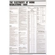 """Electricity At Work Regulations 1989"" Poster 840 x 570mm"
