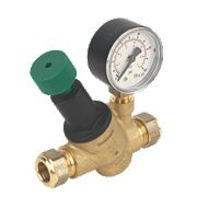 Honeywell Pressure Reducing Valve with Gauge 15mm