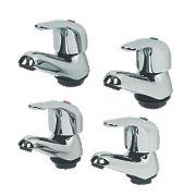 Swirl Single Lever Bathroom Basin & Bath Tap Pack