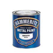 Hammerite Smooth Metal Paint White 750ml