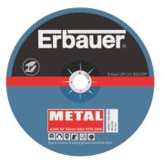 Erbauer Metal Cutting Discs 125 x 2.5 x 22.23mm Pack of 5