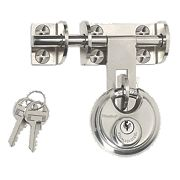 Master Lock Hasp & Staple with Disc Padlock 120mm