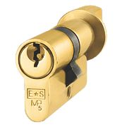 Eurospec 5-Pin Master Keyed Euro Cylinder Thumbturn Lock 45-45 (90mm) Polished Brass
