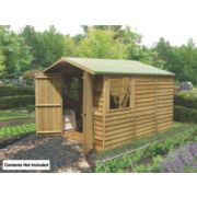 Shire Overlap Apex Shed 10' x 7' x 7' (Nominal)
