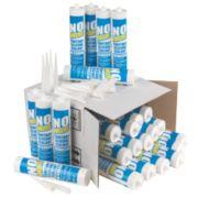 No Nonsense Plumbers Sanitary Silicone 12 x Clear & 12 x White 310ml Pk24