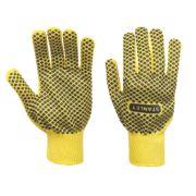 Stanley Diamond Dot Gripper Gloves Yellow Large