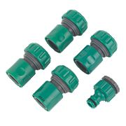 "Hose Connector Set ¾"" 5 Pieces"