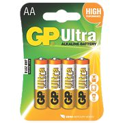 GP Batteries Ultra Alkaline Batteries AA Pack of 4