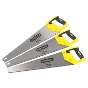 "Stanley Sharpcut Saws 7tpi 20"" Pack of 3"