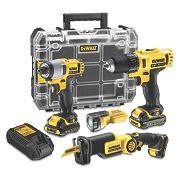 Dewalt DCK410S3FZT-GB 10.8V Li-Ion XR 4 Piece Kit