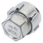 Conex Chrome Compression Stop End 15mm