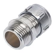 Conex Chrome Compression Male Conector 15mm x ½""