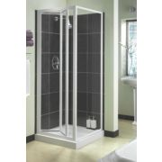 Aqualux White Bi-Fold Shower Enclosure 760 x 1850mm