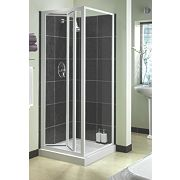 Aqualux White Bi-Fold Shower Enclosure 760 x 1850mm