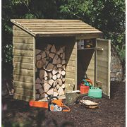 "Forest Log & Tool Store 71"" x 28"" x 59"" (Nominal)"