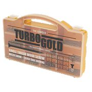 TurboGold Woodscrews Handy Pack Double Self-Countersunk Pack of 350