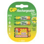 GP Batteries Smart Energy Rechargeable Batteries AAA Pack of 4