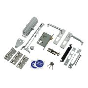 Lever Lock Set Satin Anodised Aluminium